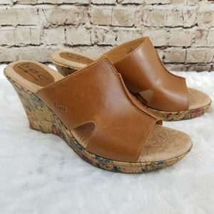B.O.C by Born Dianna Floral Leather Wedge